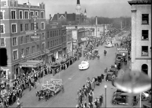 Fargo during the 1930's. See: http://www.flickr.com/photos/ndsu-university-archives/5836352282/lightbox/.