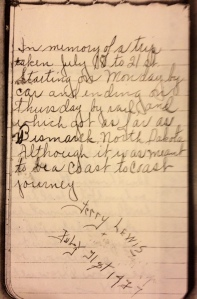 Picture of Charlotte Lewis' journal (circa 1937)