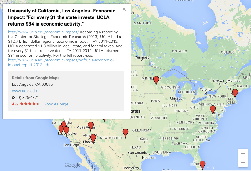 Interactive Map: Universities as Economic Engines
